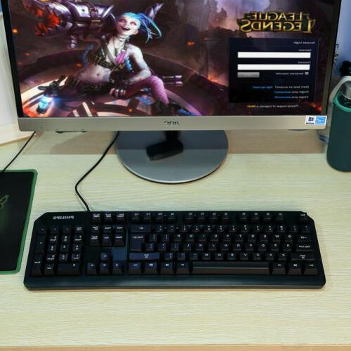 104 USB Wired Gaming PC Mac XP 8 7