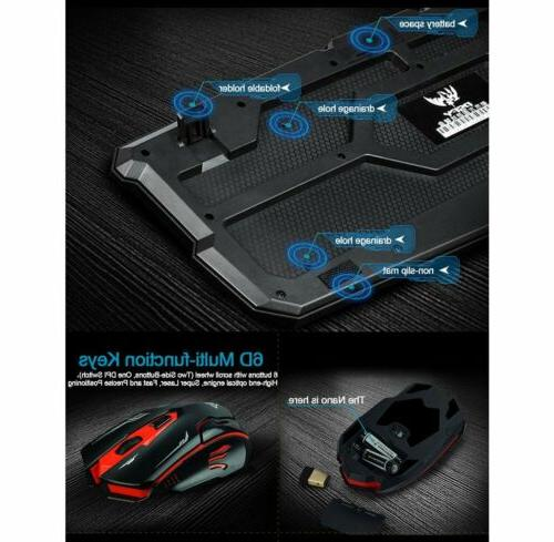 2.4G Wireless Gaming and Mouse for PC Gamer