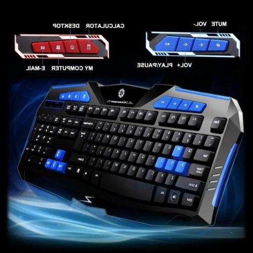 2 4g wireless gaming keyboard and mouse