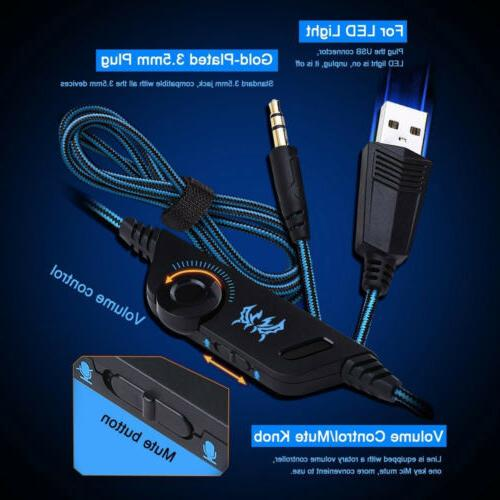 3.5mm Gaming Headset LED Stereo Keyboard Mouse Bundles