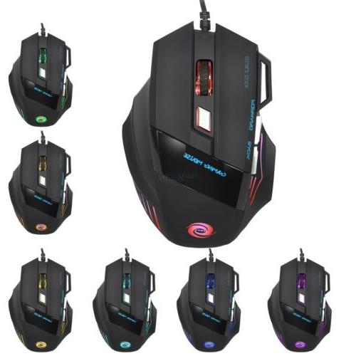3 Color Illuminated Backlight USB Gaming Mouse Set