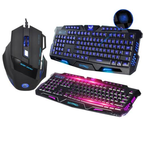Rainbow Gaming Keyboard / Mouse Combo RGB LED Mem-chanical K