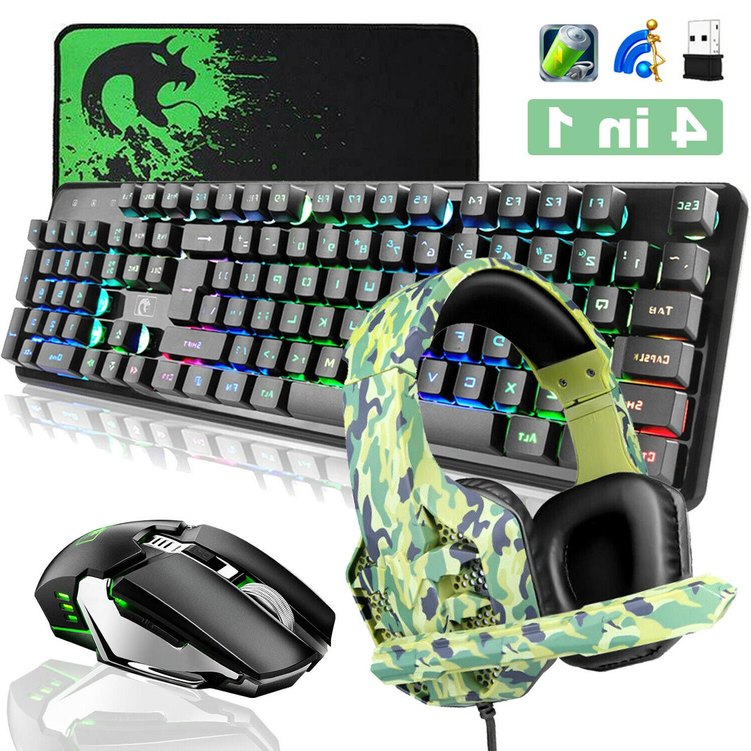 4 in1 K620 Wireless Gaming Keyboard and Mouse + Headset Sets