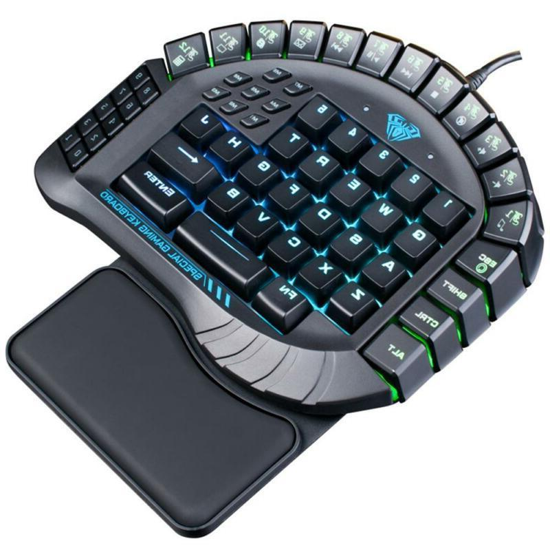 60 keys one hand gaming keyboard removable