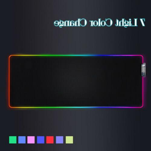 7 color large rgb led lighting keyboard