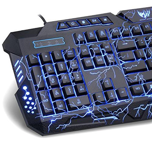 Gaming Computer Keyboard LED 3 with Customized