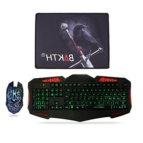 Gaming Sets - Cool Wired and Mouse Combo Computer Games Mouse