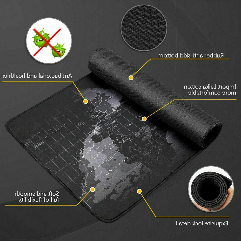 Extended Large Gaming Pad World Map Anti-slip Desk