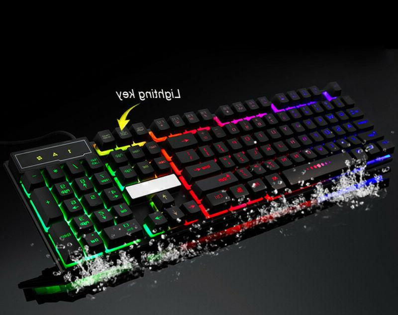 Backlit Gaming Keyboard Adjustable 3