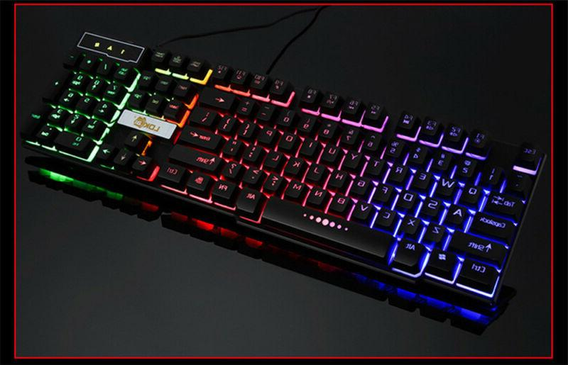 Backlit 3 Light Gamer USB Wired