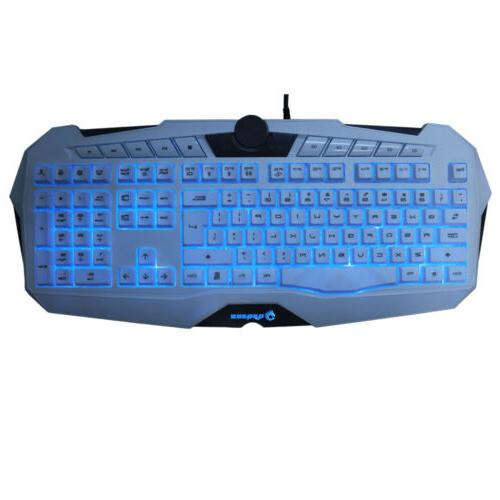 Cool USB Keyboard Game Illuminated Loca