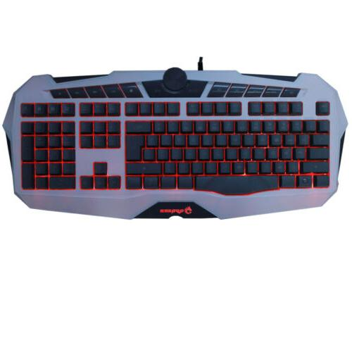 Cool Gaming Keyboard Game LED Illuminated for Pc Loca