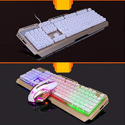 HAHAP Backlit Wired Mechanical Gaming Mechanical Keyboard V1 Key Wired LED