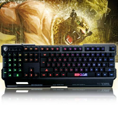 SADES Blademail PC Keyboard Colorful LED non-conflict