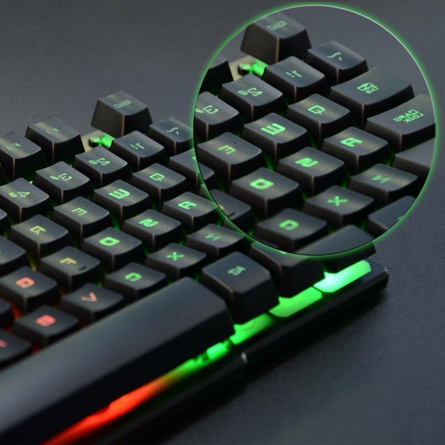 Cheap Gaming Keyboard Rainbow Pc Led Mechanical