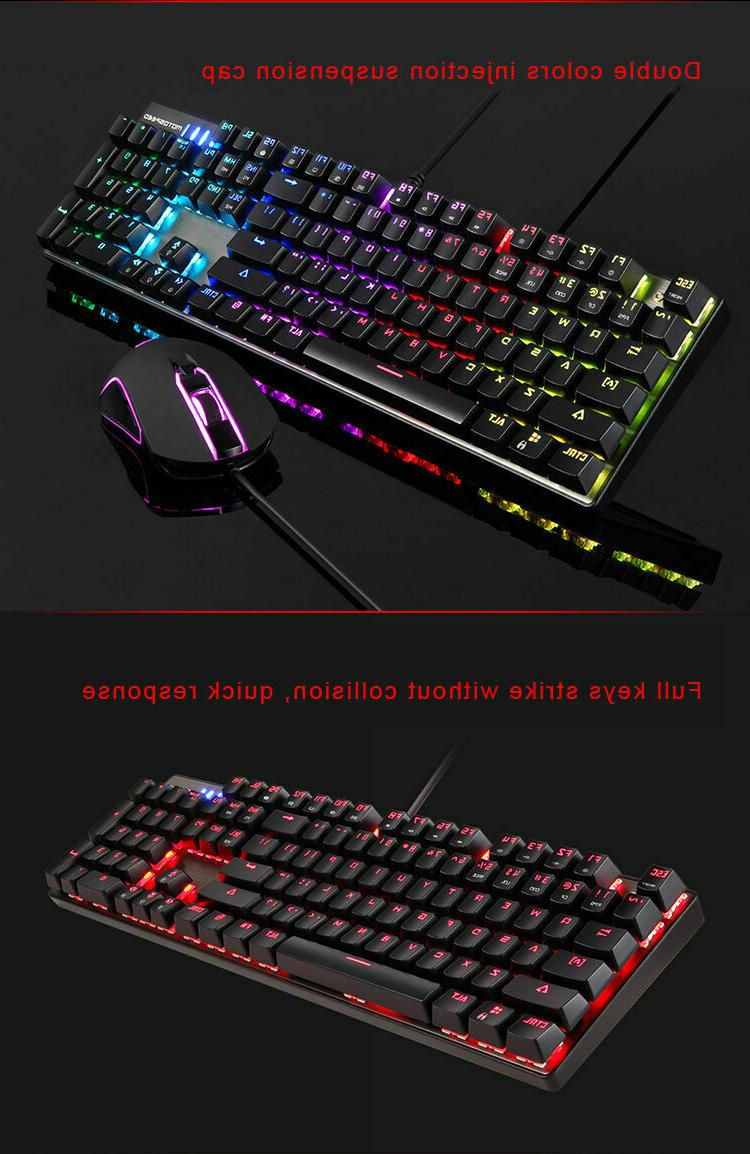 Motospeed Mechanical Gaming Keyboard Mouse Combo PC