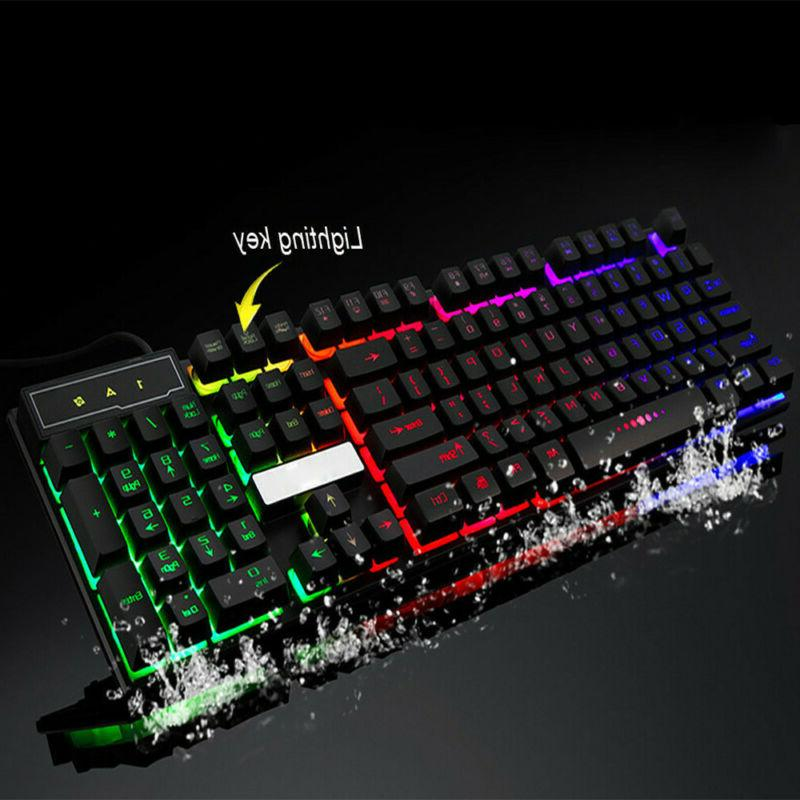 Colorful Backlit PC Rainbow Keyboard