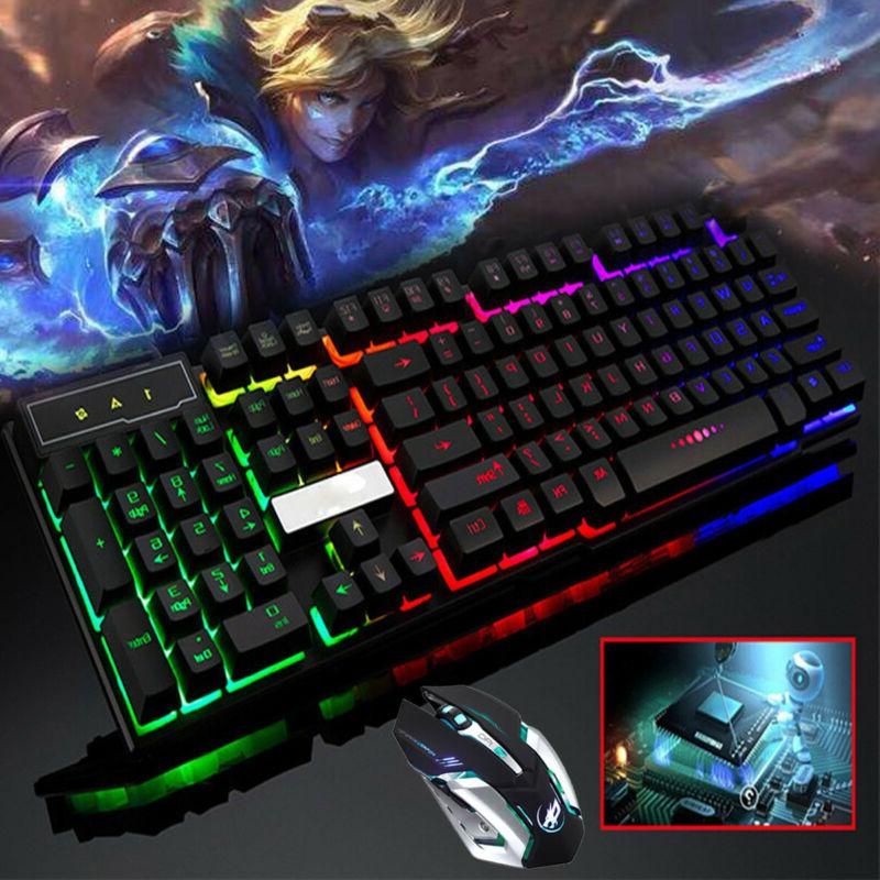 computer gaming rgb keyboard and mouse led