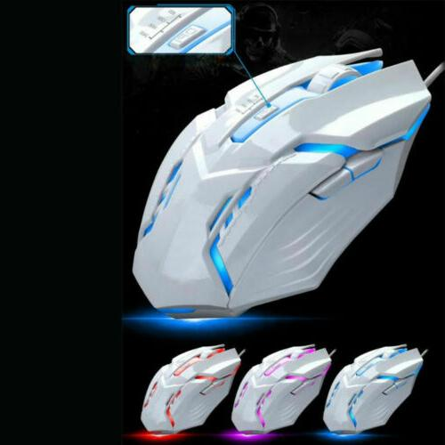 Computer Gaming Keyboard LED with Mouse Mechanical Feeling Keyboard
