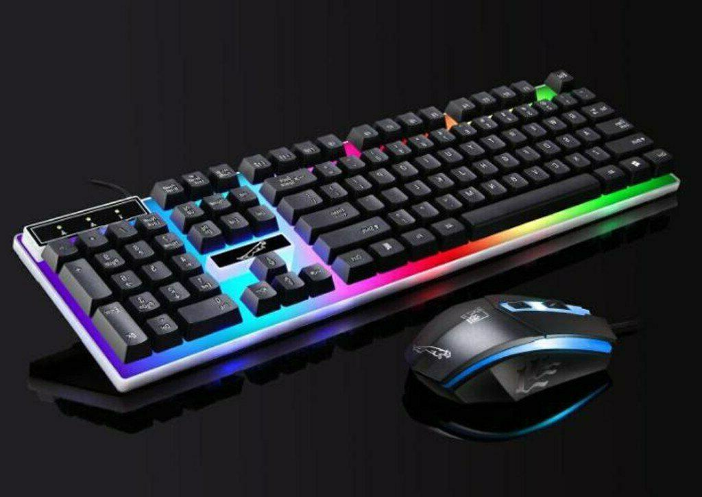 Computer Gaming And Colorful Backlit Ergonomic