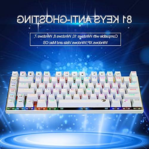 E-Element Gaming Brown - Tactile Clicky, Resistant, Compact Anti-Ghosting for White