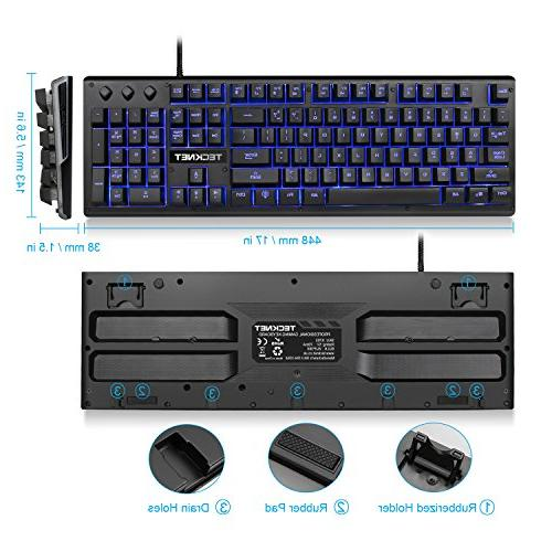 TeckNet LED USB Wired PC Keyboard, Layout