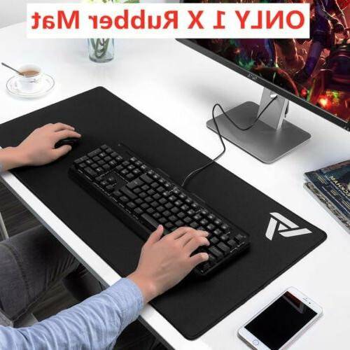 extended gaming mouse pad large keyboard rubber