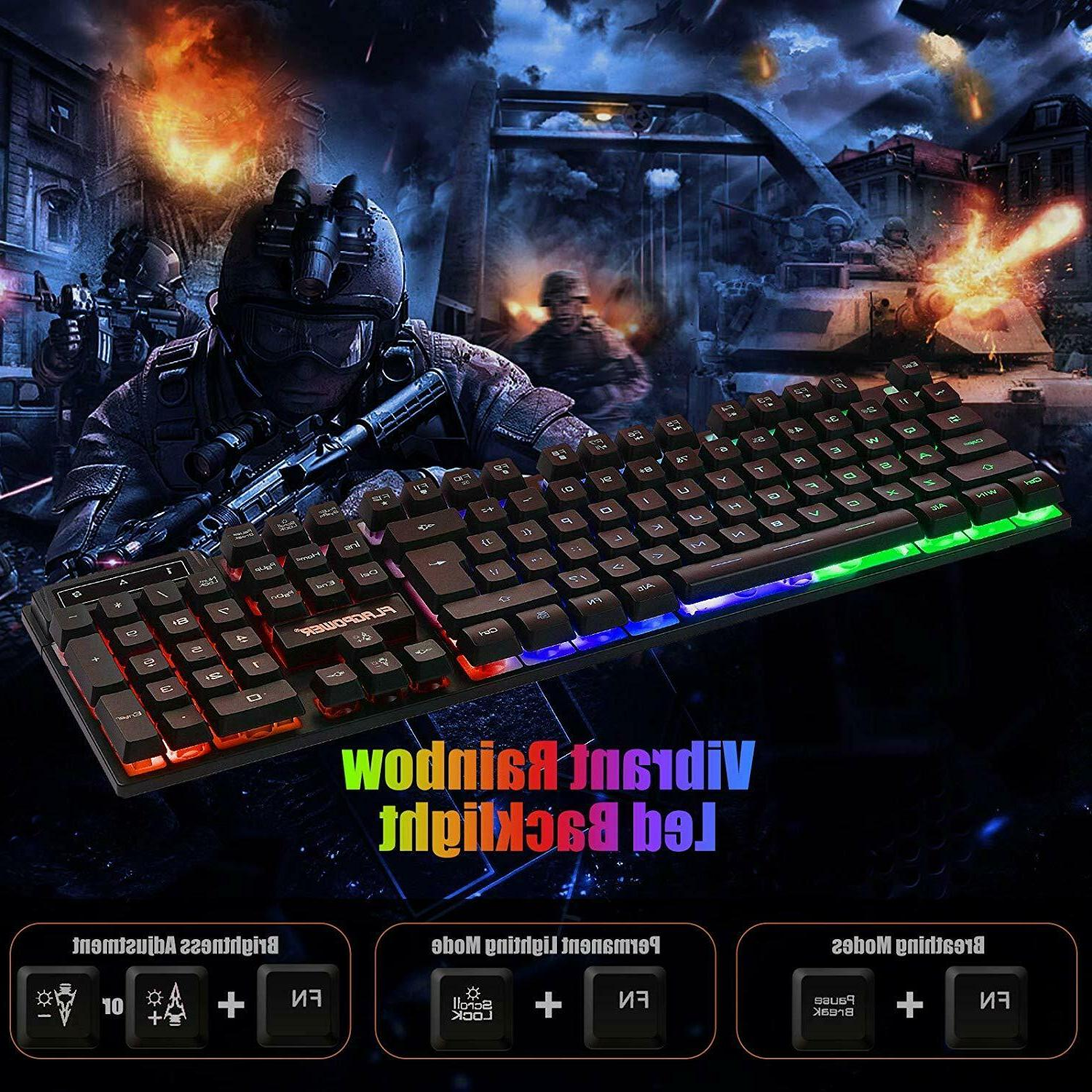 PS4 Keyboard Mechanical Mouse Set 4 Wired Kit