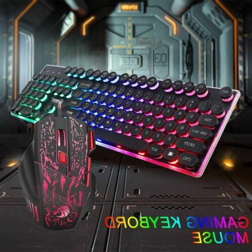 Mechanical Wired Keyboard and Mouse Set Backlight