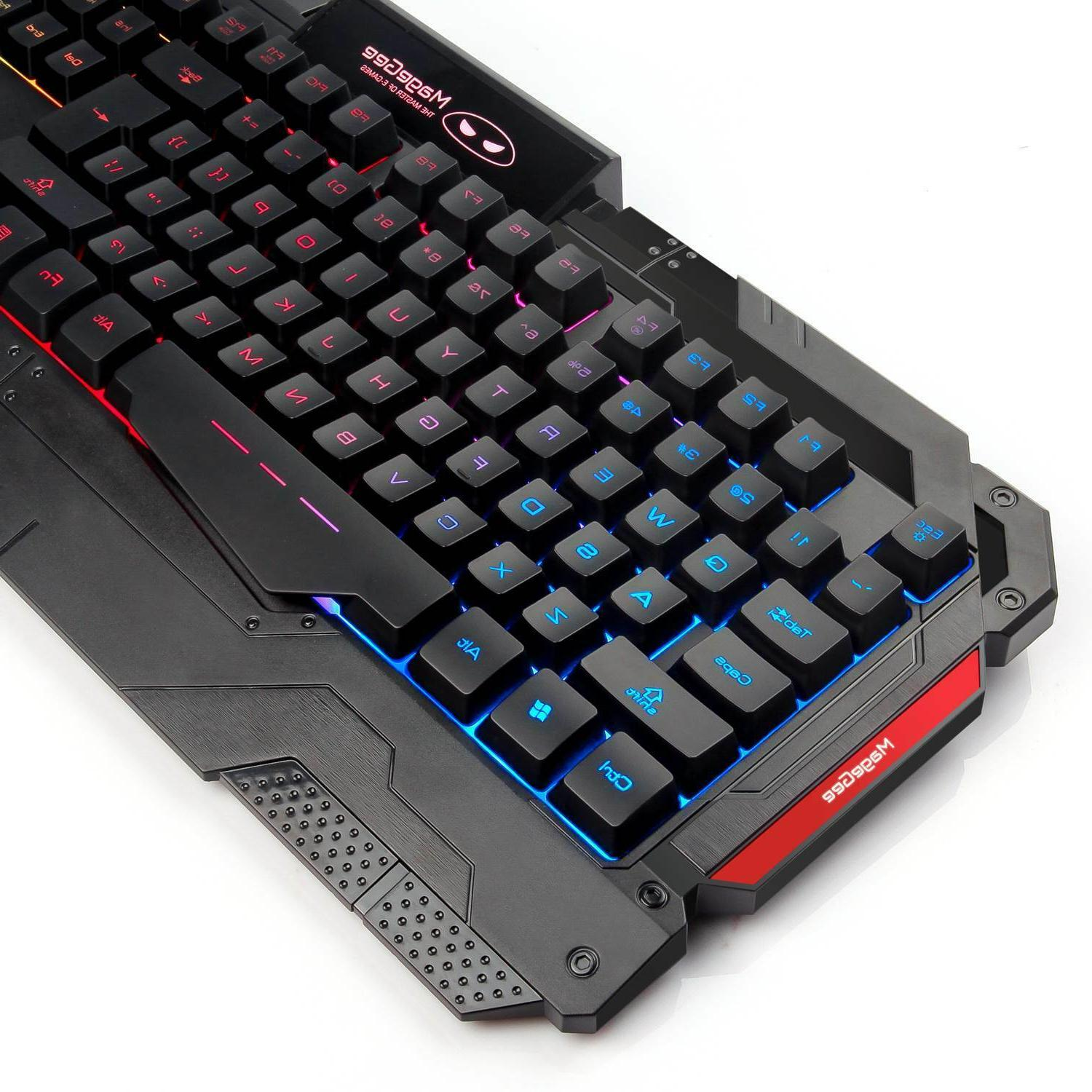 Gaming Keyboard Combo Rainbow Backlit LED Feel DPI