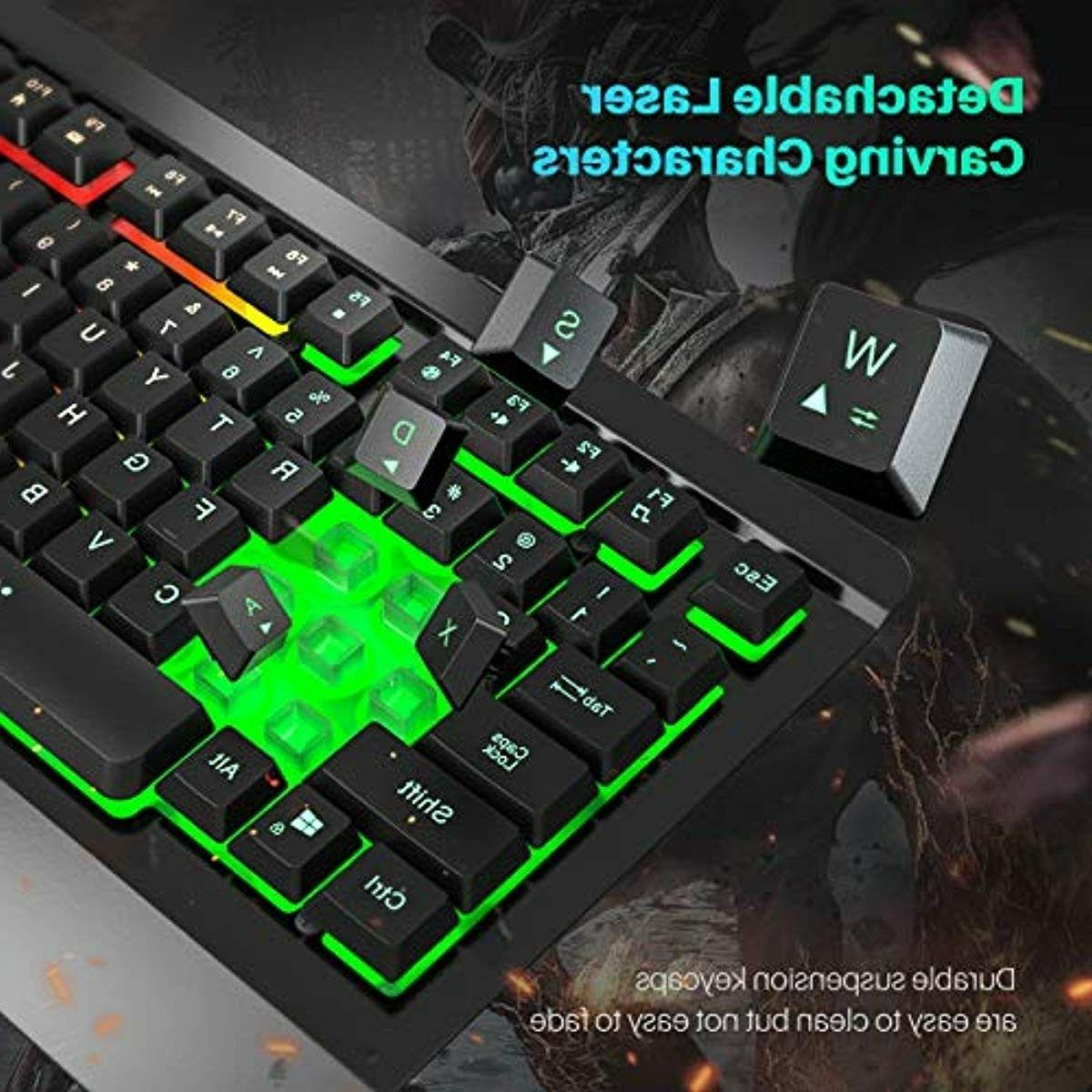 Gaming Mouse Combo,Ultra-Slim,LED PC