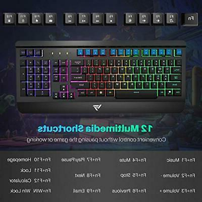 Gaming Keyboard Combo, UltraSlim Backlit Wrist