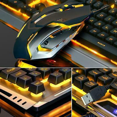 Gaming and Mouse Mechanical Pad LED Warm Backlight USB