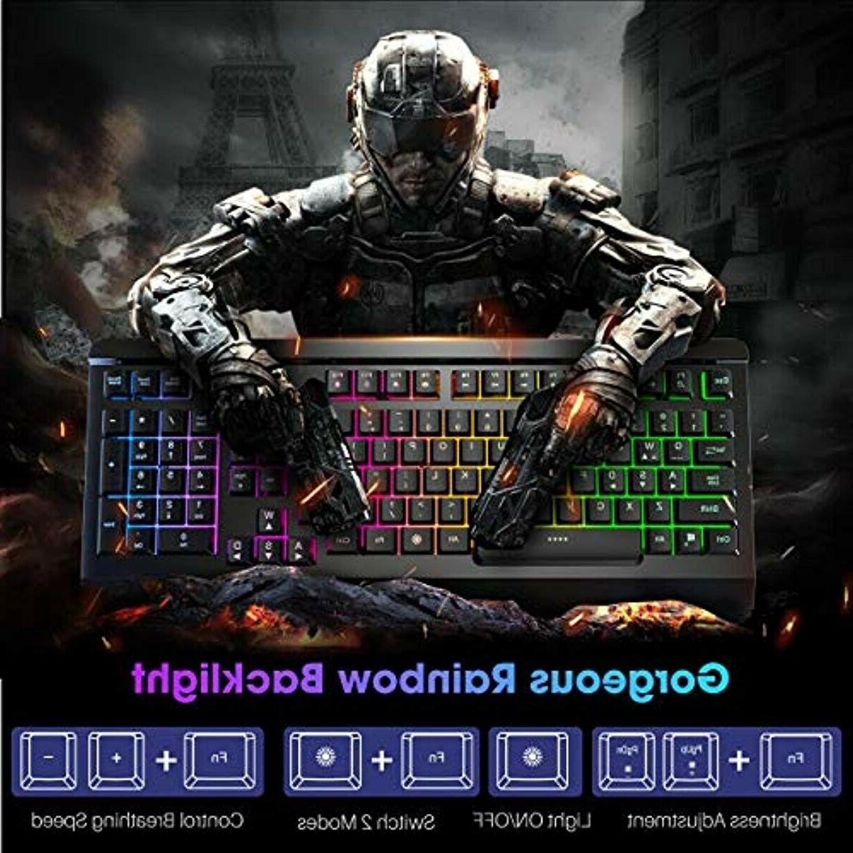 VicTsing Wired Quiet All-Metal Panel Spill-Resista