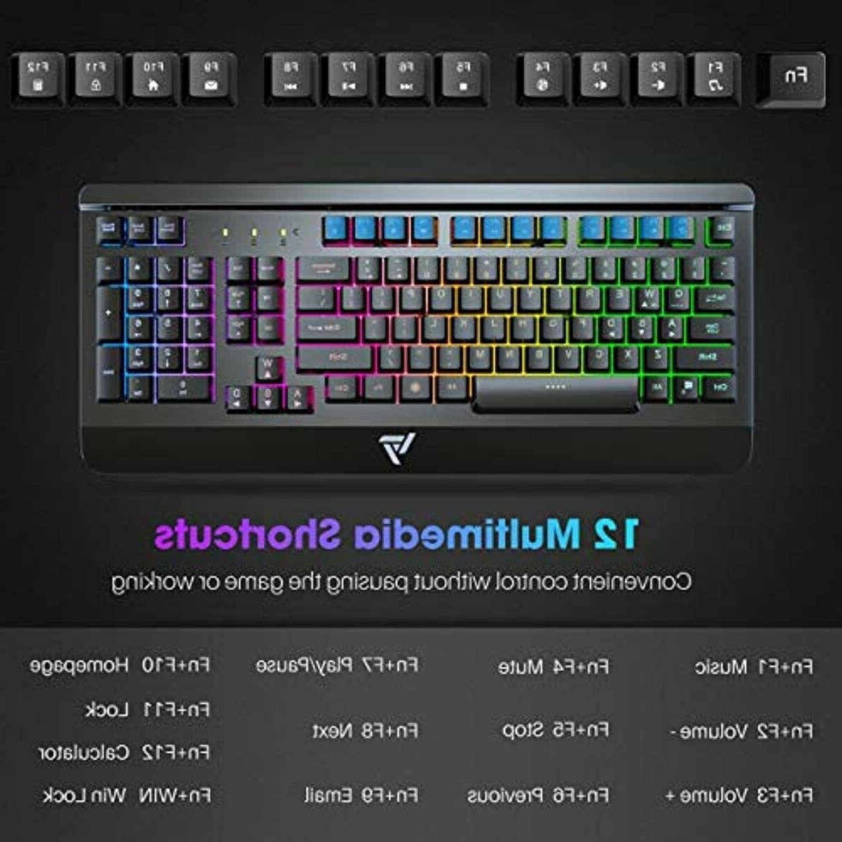 VicTsing USB Wired Keyboard, Quiet Panel Spill-Resista
