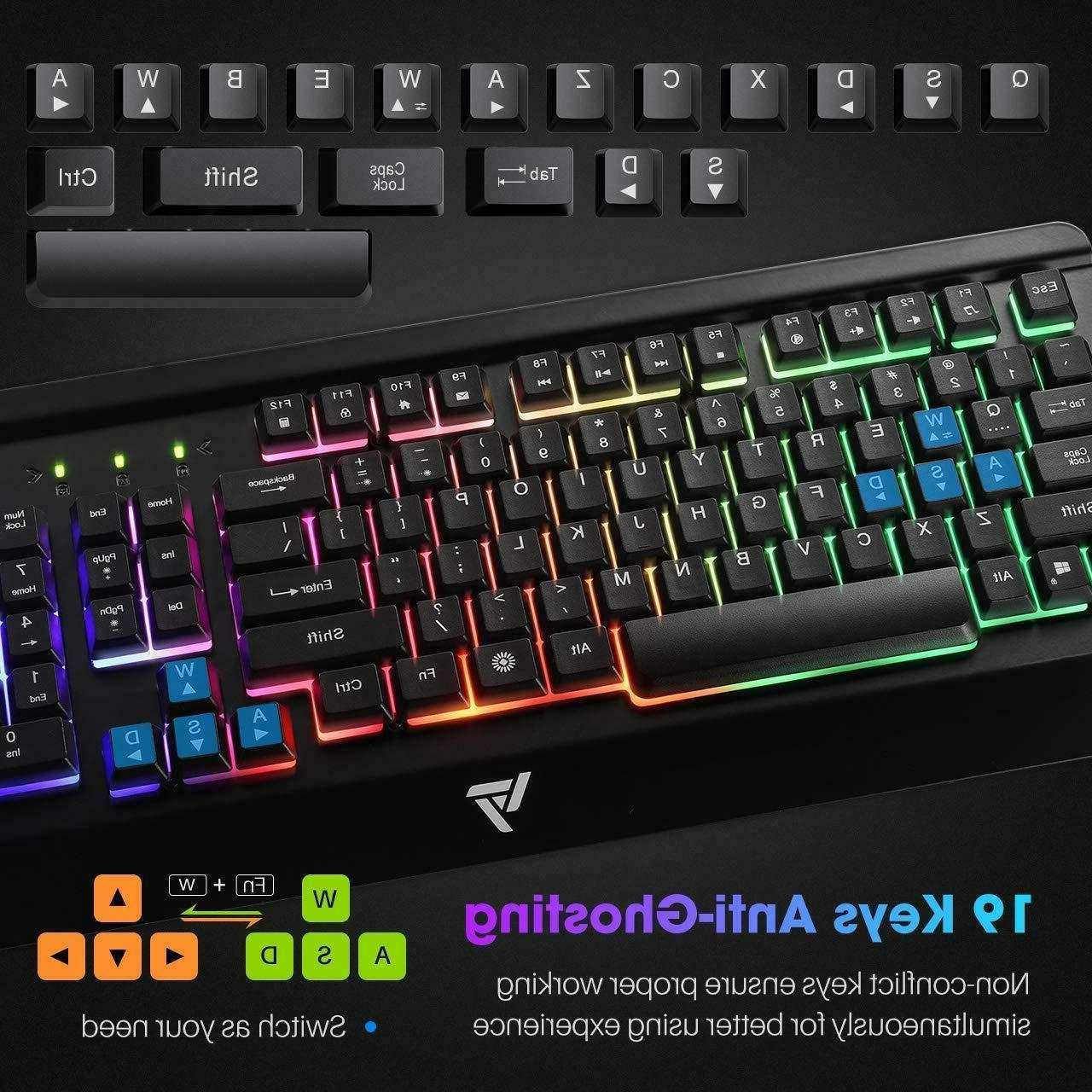 Gaming Keyboard, VicTsing Wired All-Metal Keyboard