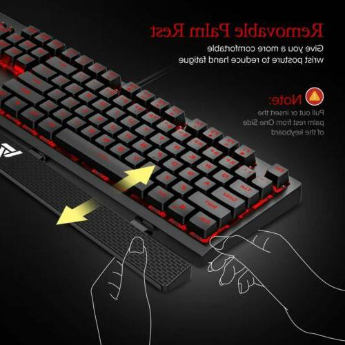 VicTsing Gaming Red LED Mechanical Keyboard Red