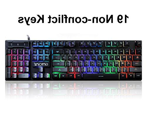 Gaming LED and Mouse Emitting Character 3200DPI Usb Mouse Backlight Mechanical Feeling for PC Mac Tob box