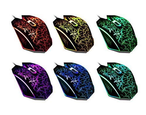 Gaming and Mouse Combo with Emitting Mouse Multimedia Keys Backlight Feeling PC Resberry Pi Tob with