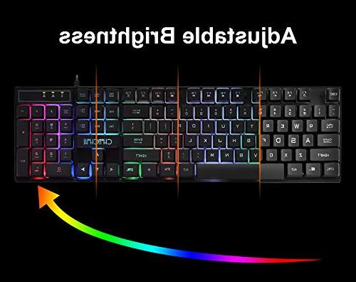 Gaming Wired and Emitting Character Mouse Backlight Mechanical Feeling for PC Tob