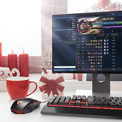 VicTsing Gaming High Up to 3200 DPI, Levels, 6 Buttons Design, Ergonomic Grips,Backlit Windows7/8/10/XP,