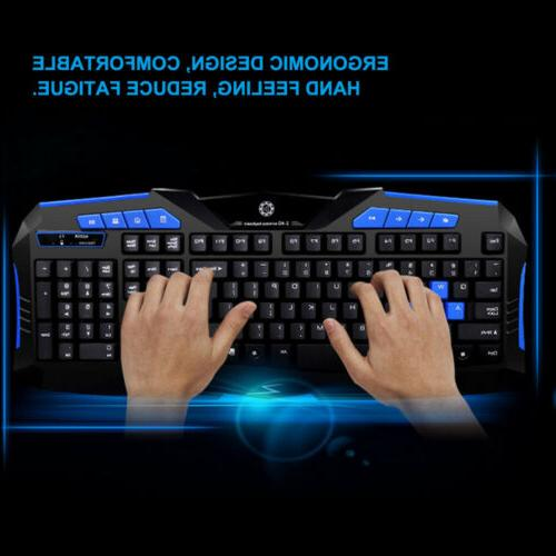 Gaming Wireless 2.4G and for Computer PC Multimedia Gamer
