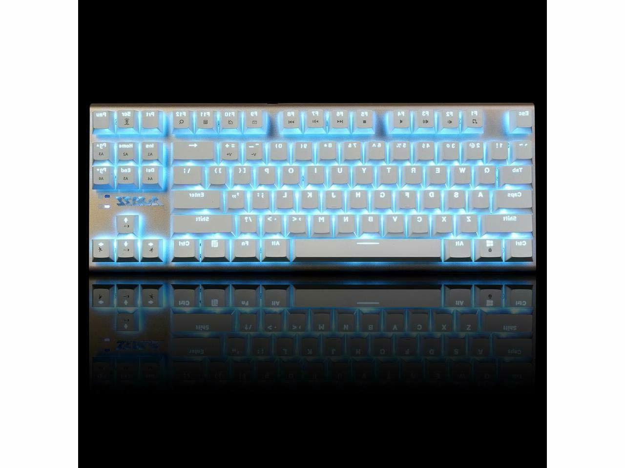 Ajazz AK40 Black Backlit Gaming Keyboard with 87 Keys/USB Wired