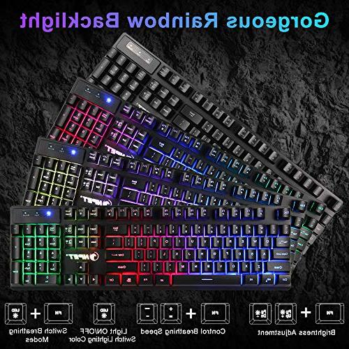 Floating Feeling Rainbow Keyboard for PC, Computer