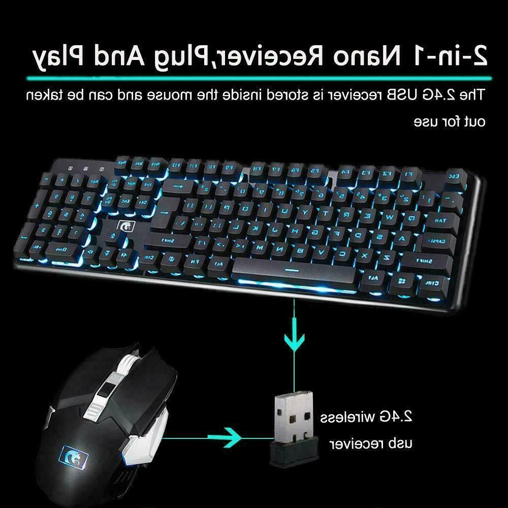 K620 Rechargeable Wireless Keyboard + Mouse Mice Set