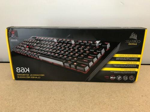 k68 mechanical gaming keyboard backlit red led