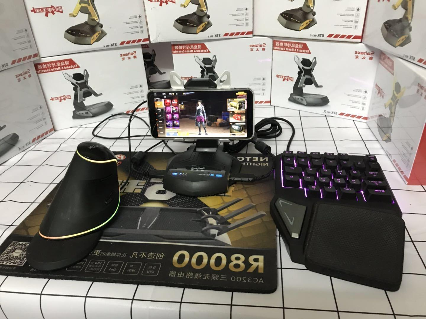 Keyboard and Mouse Converter Phone Holder Dock PUBG