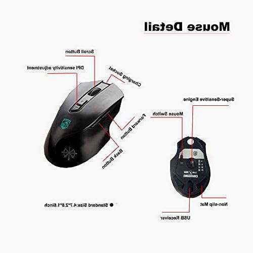 LexonElec Combo,Wireless Technology,1000mAhLarge Capacity,Suspended Keycap Mechanical Feel Gaming Mouse-Fast