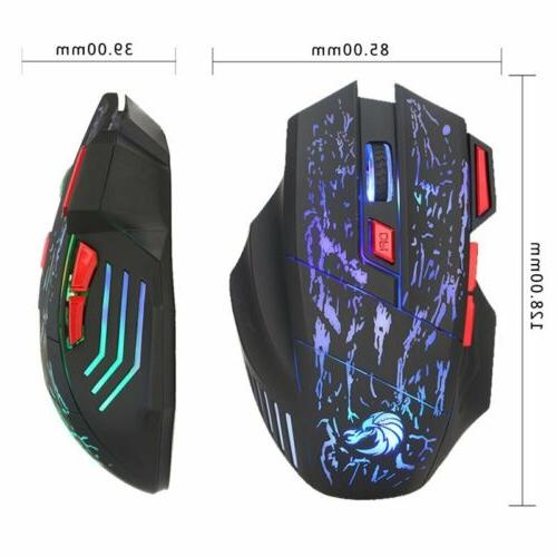 Mechanical Wired Gaming Keyboard and Mouse Set Backlight For