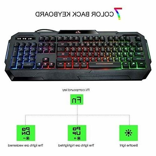 Keyboard Set for PS3 Xbox One and Rainbow Combo